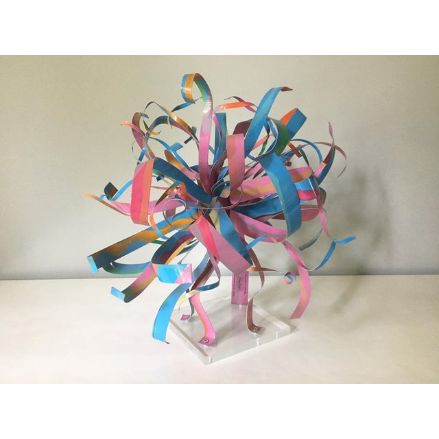 Dorothy Gillespie Starburst Metal Art Sculpture - Image 2 of 6
