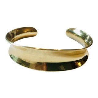 Ed Levin Modernist Bronze Cuff Bracelet For Sale