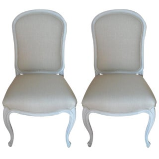 Louis XV Style Painted Side Chairs - A Pair