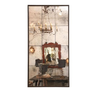 Paneled Steel Framed Mirror For Sale