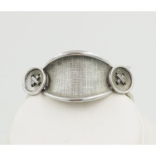 Late 1950s Signed Boucher Silvertone Button Bracelet Preview