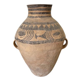 Chinese Neolithic Painted Pottery Jar For Sale