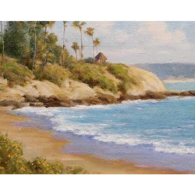 David Chapple -Panoramic View of Laguna Beach California -Oil Painting For Sale - Image 4 of 8