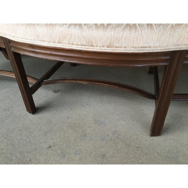 19th Century Antique Chippendale Style 8 Leg Camel Back Serpentine Front Settees - A Pair For Sale - Image 10 of 13
