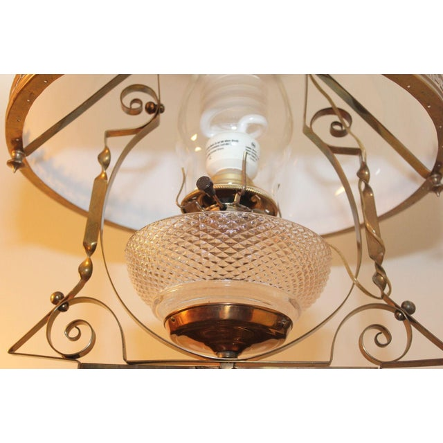 Antique Victorian Electric Oil Lamp Chandelier Image 3 Of 8