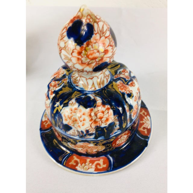 Paint 19th Century Hand Painted Japanese Vase With Lid For Sale - Image 7 of 11