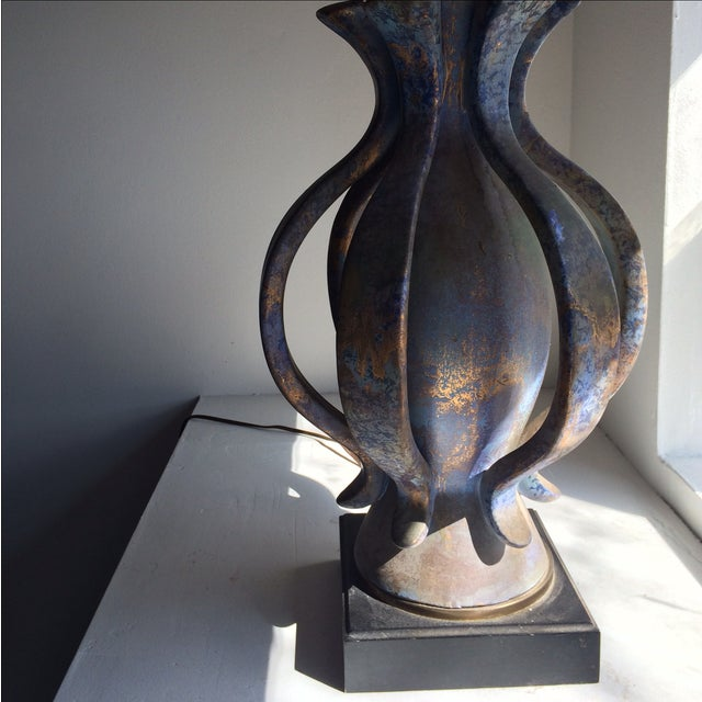 TYE of California Brown Ceramic Table Lamp For Sale In Chicago - Image 6 of 11