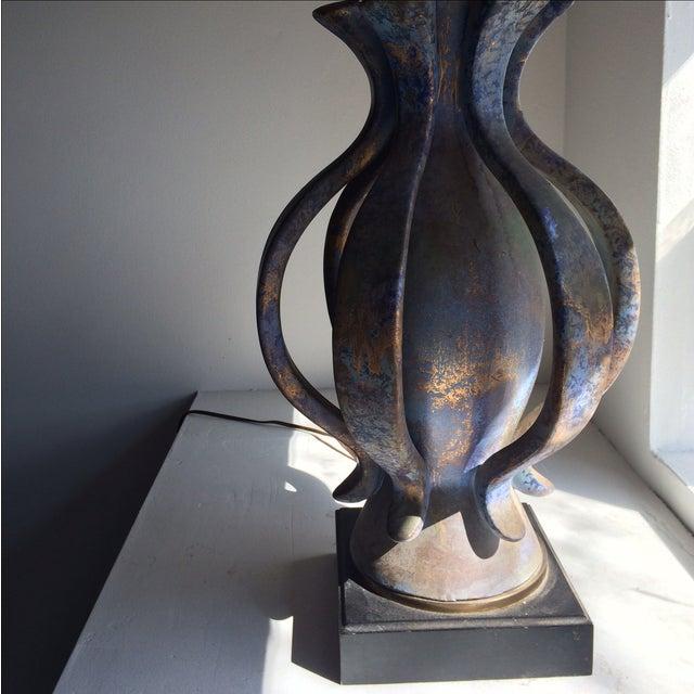 TYE of California Brown Ceramic Table Lamp - Image 6 of 11