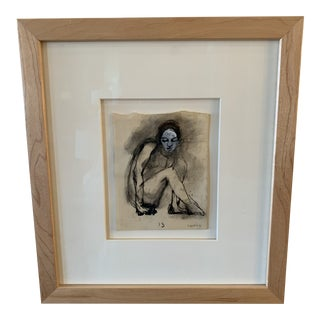 Curtis Nude Watercolor Painting For Sale