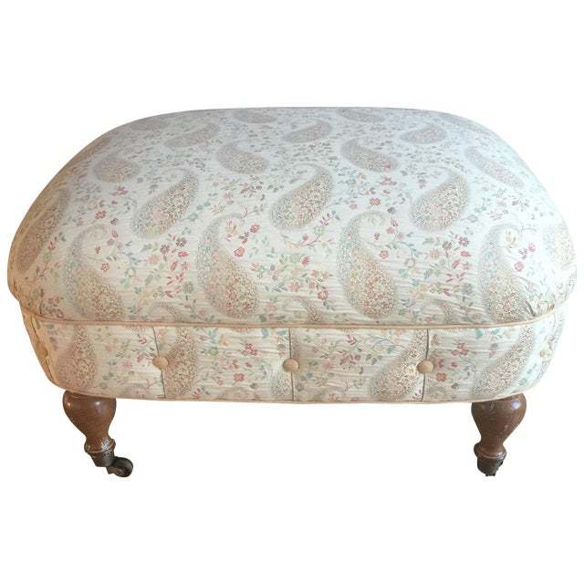 Foot Stool on Casters - Image 1 of 6