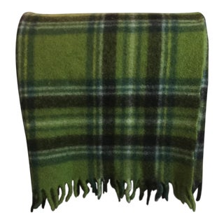Mid-Century Modern Wool Plaid Throw For Sale