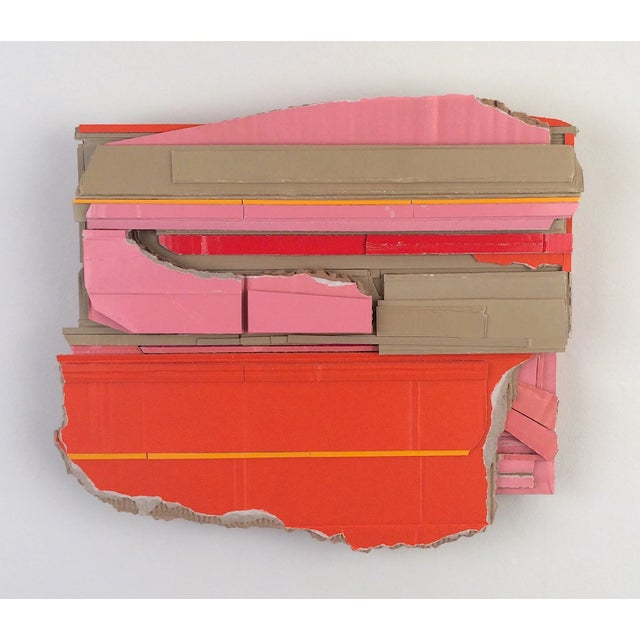 "Ryan Sarah Murphy ""Base"" 2015 Found (unpainted) cardboard and foamcore 11 x 12 x 2 in. ""My creative practice is intuitive..."