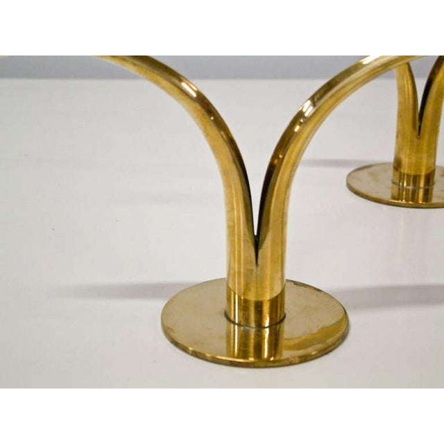 Mid-Century Modern Circa 1950 Grouping of 11 Swedish Ystad Metall Brass Candleholders For Sale - Image 3 of 11