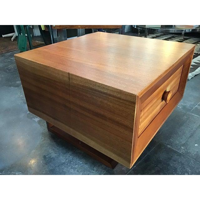 Brown 1970s Scandinavian Modern Teak Oversized Side Table For Sale - Image 8 of 11