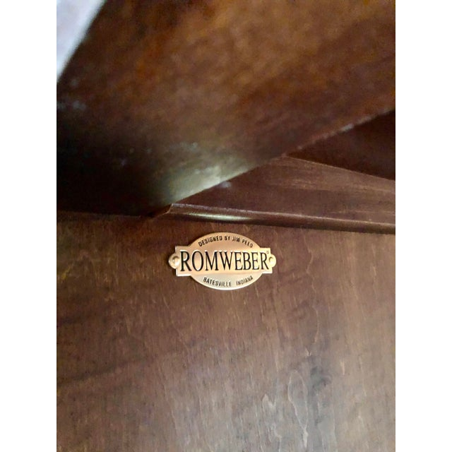 Contemporary Jim Peed for Romweber Rustic Hardwood Armoire For Sale - Image 3 of 13