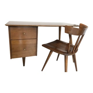 Mid-Century Modern Paul McCobb Planner Desk & Chair For Sale