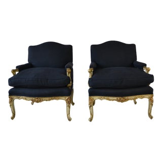 Louis XV Style Armchairs - A Pair For Sale