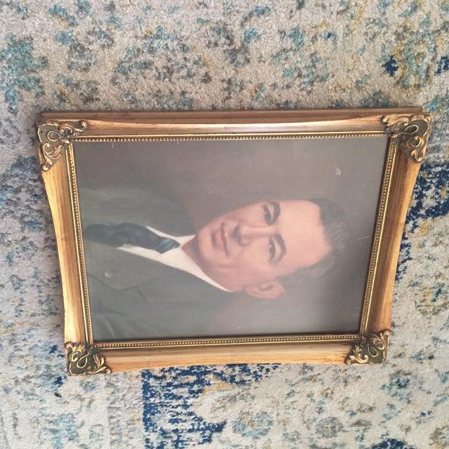 Vintage Framed Portrait Painting of Business Man - Image 10 of 11