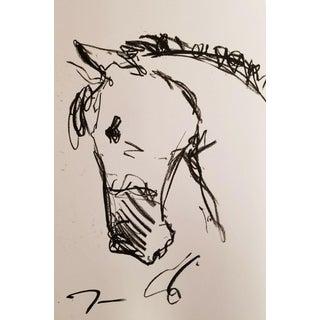 """Jose Trujillo Art """"Horse Portrait""""Oil Pastels Painting For Sale"""