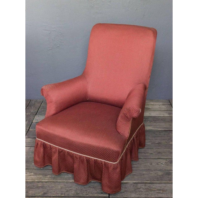 Red Napoleon III Armchair For Sale - Image 8 of 9