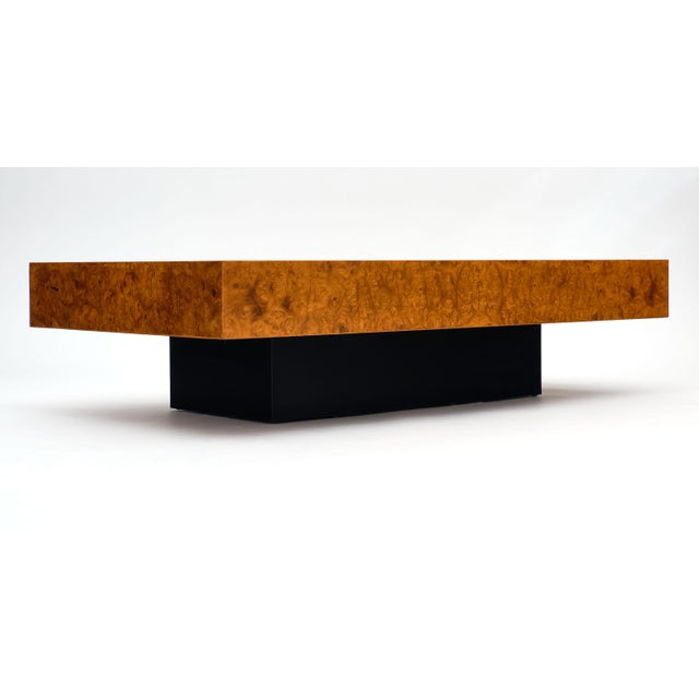 Brown Mid-Century Burl Ash Coffee Table For Sale - Image 8 of 10