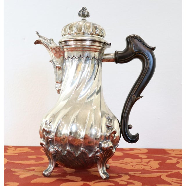 20th Century Italian Baroque Style Silver 800 Coffee Pot For Sale - Image 9 of 13