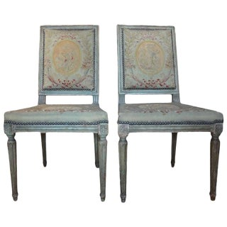 Late 18th Century French Louis XVI Chairs-A Pair For Sale