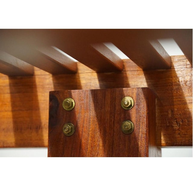 Teak Late 20th Century Kipp Stewart Bench For Sale - Image 7 of 10