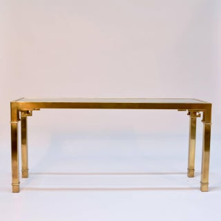 Chinoiserie Brass and Glass Long Console by Mastercraft Preview