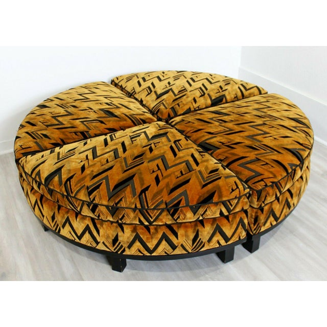 1960s Mid Century Modern Wormley for Dunbar 4 Piece Sectional Ottoman Larsen Era 1960s For Sale - Image 5 of 10