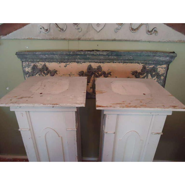 White Gothic Architectural Pedestals From a Church - A Pair For Sale - Image 8 of 10
