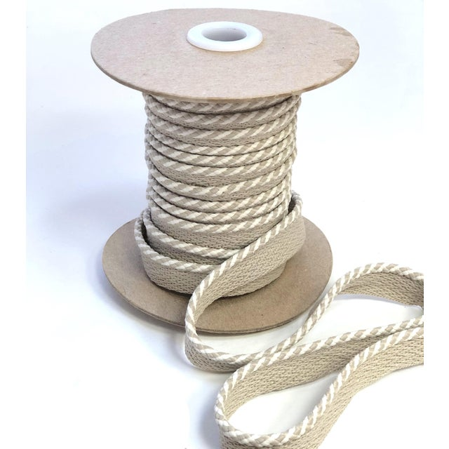 """Braided 1/4"""" Indoor/Outdoor Cord in White/Sand For Sale - Image 4 of 9"""