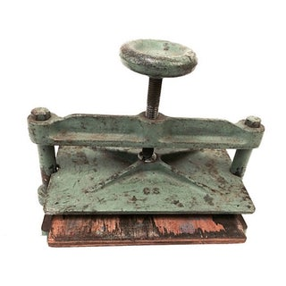 Vintage Cast Iron Book Press For Sale