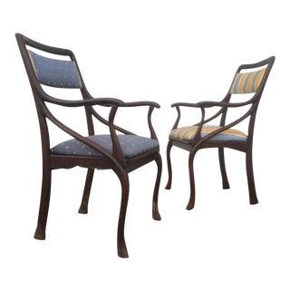 Art Nouveau Style Vintage Chairs - A Pair