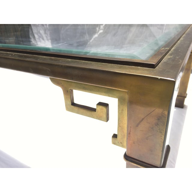 1970s Vintage Mastercraft Regency Style Brass Coffee Table For Sale - Image 4 of 10