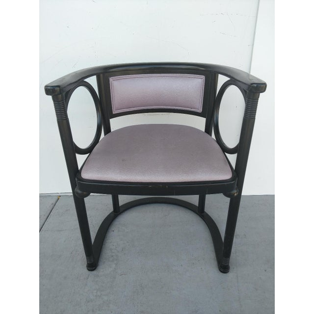 Wood Vintage Joseph Hoffmann Style Wrap-Around Armchairs - Set of 4 For Sale - Image 7 of 12