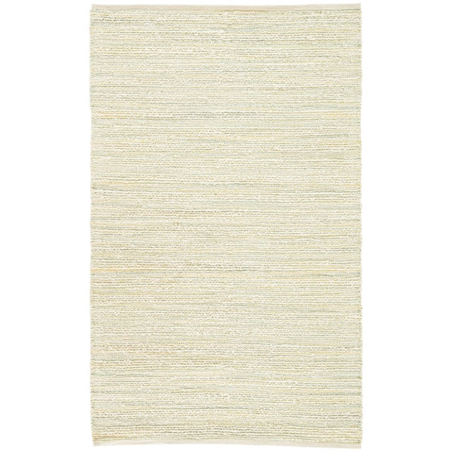 "Jaipur Living Canterbury Natural Stripe White & Green Area Rug - 2'6"" X 4' For Sale In Atlanta - Image 6 of 6"