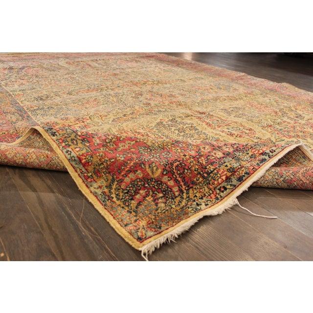 "Traditional Apadana Antique Persian Kerman Rug - 7' x 9'11"" For Sale - Image 3 of 9"