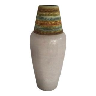 1960s Bagni for Bitossi Italian Modern Crackle Glaze Pottery Vase For Sale