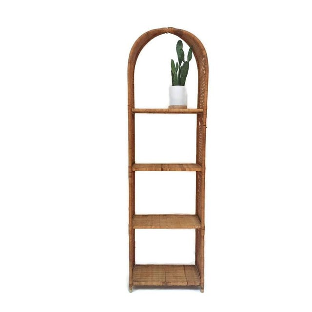 Danny Ho Fong Vintage Domed Rattan Etagere Danny Fong Style For Sale - Image 4 of 12