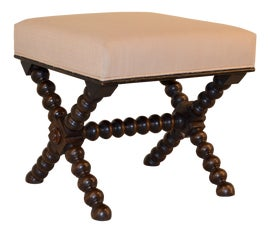 Image of Linen Low Stools