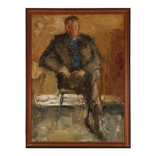 """Portrait of a Gentleman"" by Jeppe Vontillius For Sale"