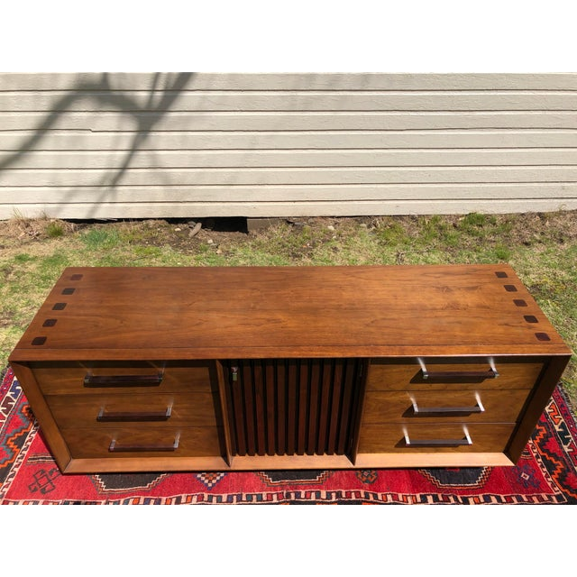 1970s 1970s Mid Century Lane 'Tower Collection' Rosewood Credenza For Sale - Image 5 of 13