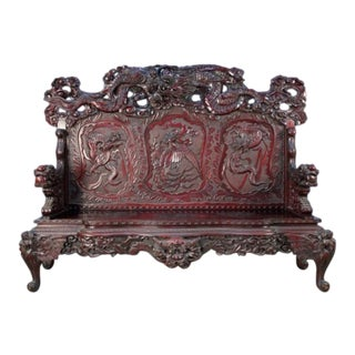 Japanese Meiji Period Settee For Sale