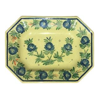 "Antique Henriot Quimper 16"" French Faience Platter"