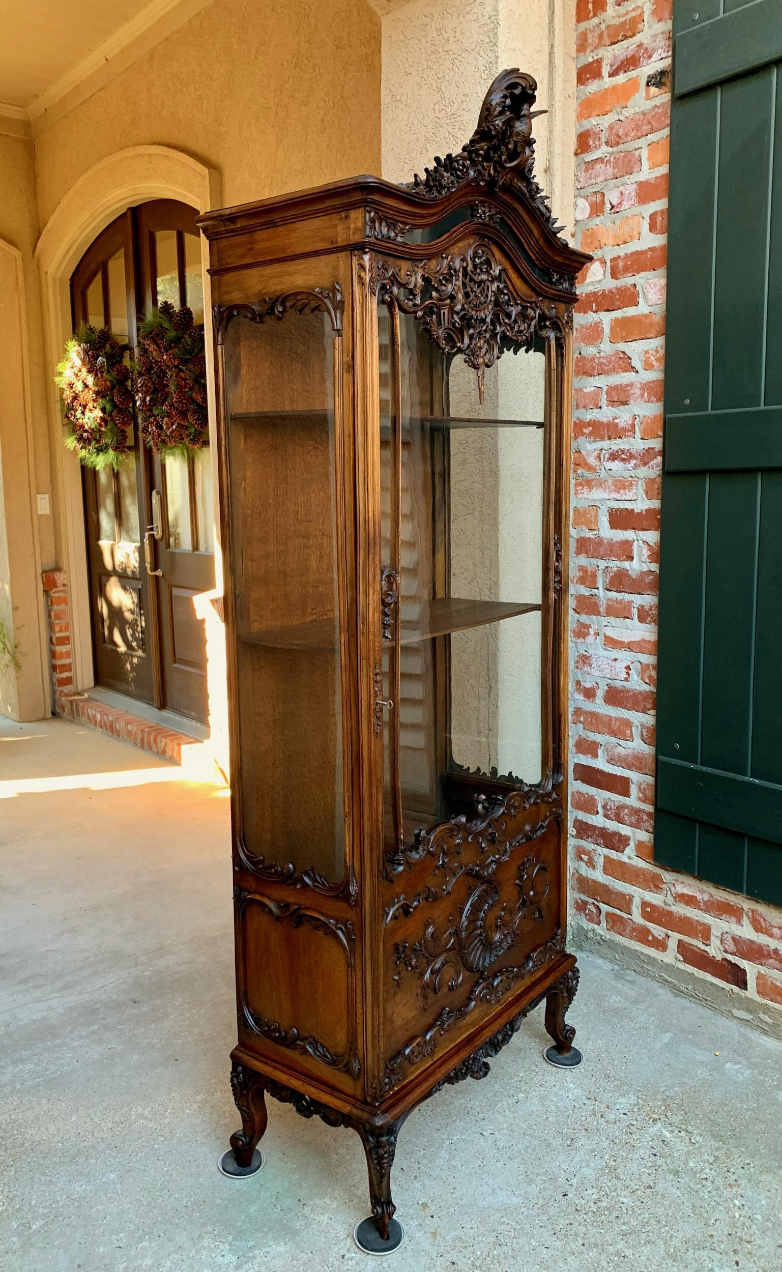 Antique French Display Cabinet 19th Century A Wonderful And Extremely Rare Hand Carved Treasure Cabinet