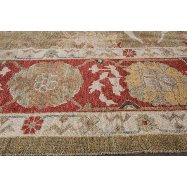 "Wool Sultanabad Rug - 8' x 10'3"" For Sale - Image 4 of 9"