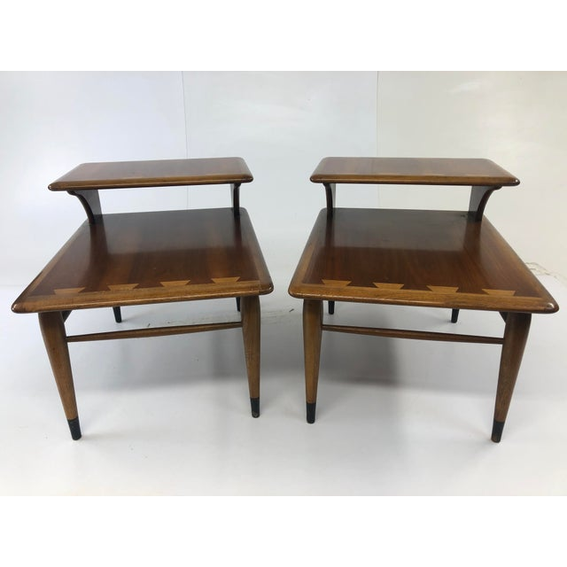 Vintage Mid Century Modern Step Tables - a Pair - Acclaim by Lane Furniture For Sale - Image 13 of 13