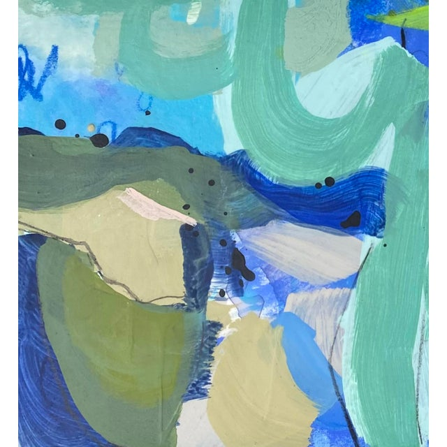 """2020s """"You'd Love It Here"""" Contemporary Mixed-Media Painting on Paper by Gina Cochran For Sale - Image 5 of 5"""