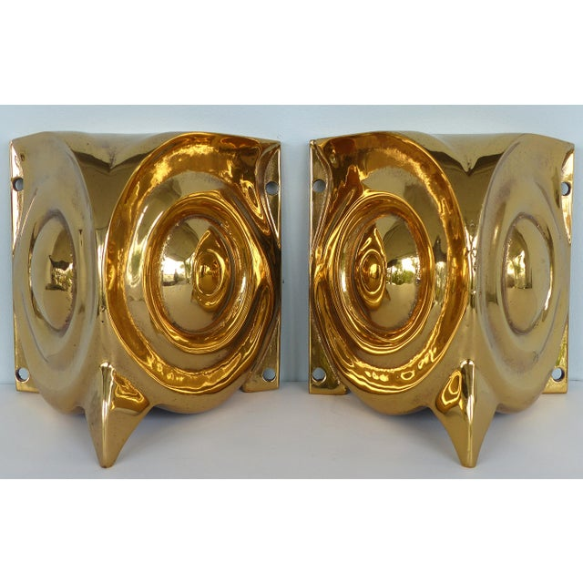 1930s French Art Deco Gilt Bronze Owl Sconces - a Pair For Sale - Image 12 of 12